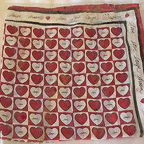 Brighton Silk Scarf Red Hearts Nwt Photo