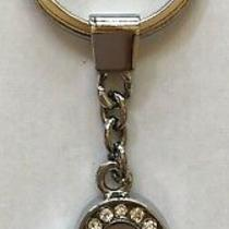 Brighton Silver Crystal Heart Key Chain Fob Ring  Retired Photo