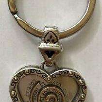 Brighton Silver Gold Love Is Here You Maze Heart Key Chain Fob Ring  Retired Photo