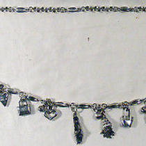Brighton Silver Plated Chain Belt With Shoe & Handbag Charms -  31