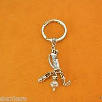 Brighton Silver Plated Golf Charms Key Fob Photo