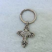 Brighton Silver Plated Key Chain With Cross   Photo