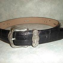 Brighton Silver Teapot Belt Black Croc Leather Tea Pot M Medium Photo