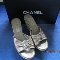 Brighton Slip on Platform/wedge Sandals Size 7 M Perfect Condition W Chanel Box Photo