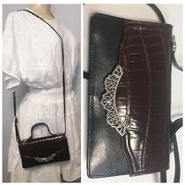 Brighton Small Black Leather Brown Shoulder Bag Crossbody Phone Pocket Photo
