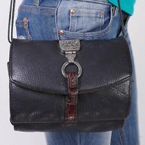 Brighton Small Brown Black  Leather Shoulder Crossbody Tote Satchel Purse Bag Photo