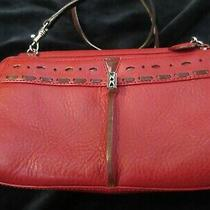 Brighton Small Red Purse Wallet/organizer Crossbody W Shoulder Strap Excellent Photo