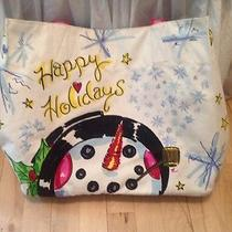 Brighton Snow Day Happy Holidays Tote Canvas Collectible Msrp 100 Photo