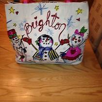 Brighton Snow Day Snowman Tote Nwt Photo