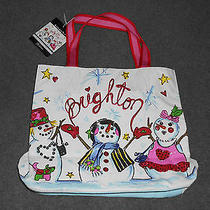 Brighton Snowday Holiday Tote New With Tags Photo