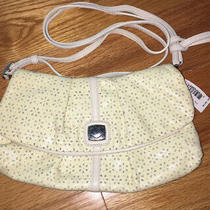 Brighton Soft White Patient Leather Cut Out Eyelet Clutch Bag Handbag Purse Nwt Photo
