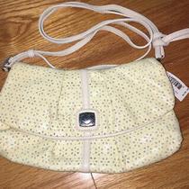 Brighton Soft White Patient Leather Cut Out Eyelet Clutch Bag Handbag Purse Nwt Photo