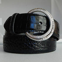 Brighton Stardust Leather Belt  Size 28 Swarovski Crystals Accents  Nwt  B10543 Photo