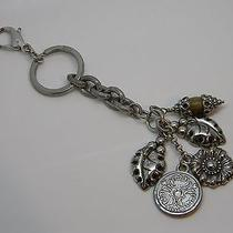 Brighton Sterling Silver 925 Flower & Leaves Keychain T3070 Photo