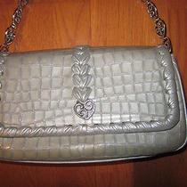 Brighton Sterling Silver Gray Celeb Silver Purse Handbag Nwt Photo