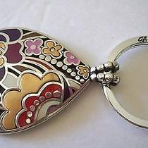 Brighton 'Swirlz' Key Fob Ring -  Pendant for Necklace  - Silver/gold Photo