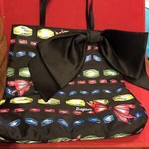 Brighton Take a Beau Black Nylon Bow Womens Tote Bag Shopper Handbag Bow Photo
