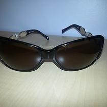 Brighton Tortoiseshell Brown and Sterling Silver Sunglasses (Rare)   Photo