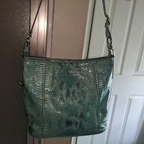 Brighton Turquoise Blue  Patent Leather Crossbody Handbag  Pursehobo Photo