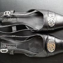 Brighton Tuscan Black Sling Back Heels Shoes Size 6 1/2  6.5 M    Photo