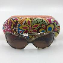 Brighton Twirl Sunglasses With Metal Case Beige Tortoise Color Clean Preowned Photo