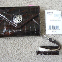 Brighton Twister Iphone Card Case/wristlet/wallet/leather/bronze//retail 75/new Photo
