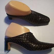 Brighton Tynan Brown Leather Mules Slides Pumps Heels Shoes Size 6.5  Closet Photo