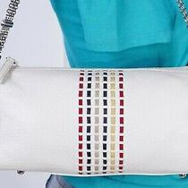 Brighton Very Small White   Leather Shoulder Hobo Tote Satchel Purse Bag Photo