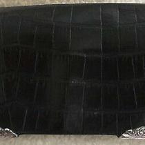Brighton Vintage Black Large Leather Wallet Organizer Clutch Purse Photo