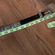 Brighton Vintage Black Leather With Sterling Silver and Gold Plated Antique Belt Photo
