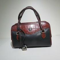 Brighton Vintage Leather Handbag Double Braided Handles Purse Lot 546 Lisasfinds Photo