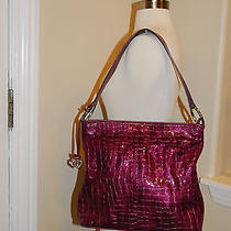 Brighton Violet Purple Raspberry Leather Purse Handbag Nwot