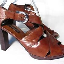 Brighton Vogue Sandal Heel Women Size 9 M Brown Leather Photo