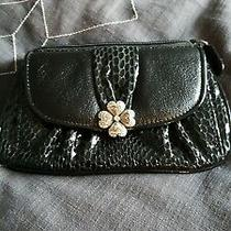 Brighton Wallet Small Purse Bag Black Leather Heart Bling Photo