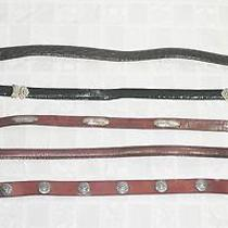 Brighton Wcm New York & 2 Other Fashion Leather Belts Small Medium Lot of 5  Photo