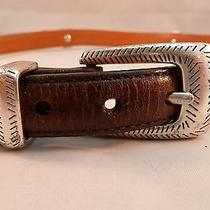 Brighton Western Belt Leather & Colored Hide / Hair Sz 32 M-L Q4800 Photo