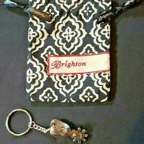 Brighton Western Spur Silver Plated Key Chain Fob Ring 08650 New With Pouch Photo