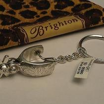 Brighton Western Spur Silver Plated Key Fob Ring 08650  Only Ones on Ebay  Nwt Photo