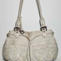 Brighton White Lolita Masterpiece Col Col 3d Embroidered Purse Shoulder Handbag  Photo