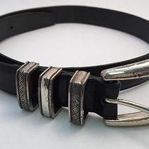 Brighton Women's Belt - Black W/ Silver Buckle - Medium Photo