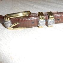 Brighton Women's Belt Brown  Gold and Silver Buckles Size 36 Xl Photo