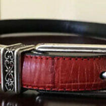 Brighton Women's Black/red Reversible Belt Sz Xs Photo