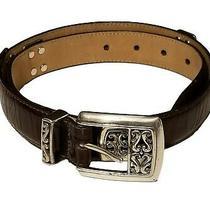 Brighton Women's Brown Leather Belt M24309 Size 34 -Euc Photo