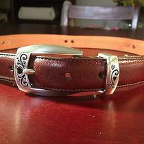 Brighton - Women's Brown Leather Golf Belt Size Medium/30 Photo