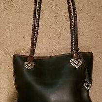 Brighton Womens Leather Bucket Bag / Shoulder Bag - Black & Brown Purse Euc Photo