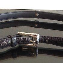 Brighton Womens Pony Hair Animal Print Leather Belt S. M 30 Photo