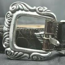 Brighton Womens S 42409 Brown Leather Belt Silver Hearts Buckle Photo