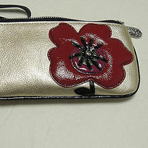 Brighton Wristet Pouch Poppywalk Zipped Pouch in Champane Nwt Photo