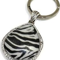 Brighton Zebra Trinity Key Fob Ring - Nwot Photo