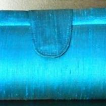 Brilliant Aqua Raw Silk Clutch Purse - Super Fashion - Hand Made 100% Quality Photo